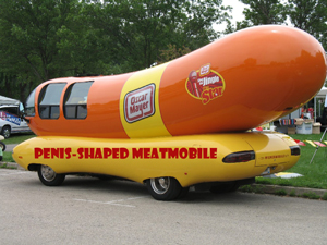Due to a negative perception of the word wiener caused by a recent political scandal, Oscar Mayer changed all of its iconic marketing to strip out the offending word, including for the newly named Penis-Shaped Meatmobile.