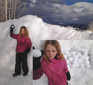 Pepper Neighbors, a second-grade student in Colorado and third-cousin-removed to Charlton Heston, had one thing to say to President Obama should he try and take away her snowballs: