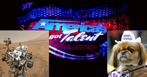 In the eyes of the American reality TV-watching voter, NASA's Mars Rover Curiosity (left) and its interplanetary space travel couldn't compete with Rover (right), a dog whose bark was somewhat similar to an annoying and overplayed pop-culture phenomenon.