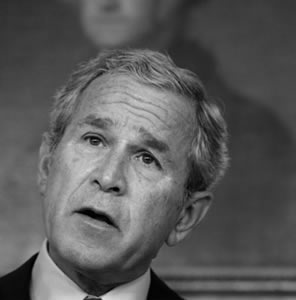 "George W. Bush insists that his days as a raging alcoholic and frat boy prevent him from being a ""lame fu&k"" in the last year of his presidency."