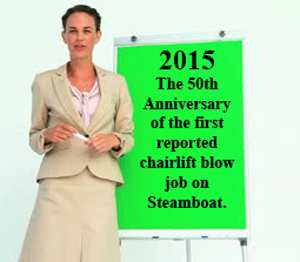 In hopes of retaining her job, Annie Versary, Steamboat's recently hired Special Anniversary Planner, presented several potential major anniversaries to be celebrated in Routt County.