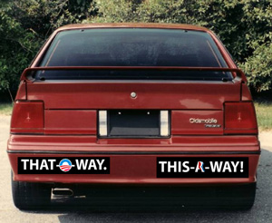 Obama's campaign is hoping its new slogan will pinpoint the direction the president hopes to lead the country in the next four years: That-O-Way. Team Romney countered immediately with its chosen direction: This-A-Way! American voters, naturally, are just confused as hell.
