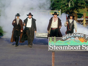 Steamboat Springs' various marketing departments and police officials are very proud that the town has truly embraced the Western theme, including shootouts, gambling and armed robbery. They also noted that the city has a train, and if anyone would like to rob it, that would be cool, although it's mostly filled with coal that could be difficult to sell on the black market.