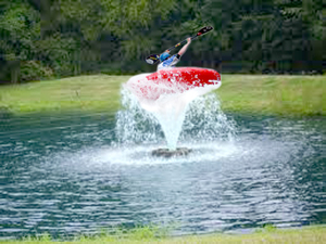 Due to drought conditions and recreational restrictions on the Yampa River, local kayakers have been reported doing barrel rolls in high-priced developments' water features.